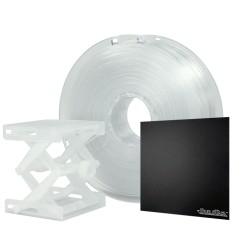 "Polymaker PC-Plus filament tranparentní 1,75mm 750g s BuildTak 8x8"""