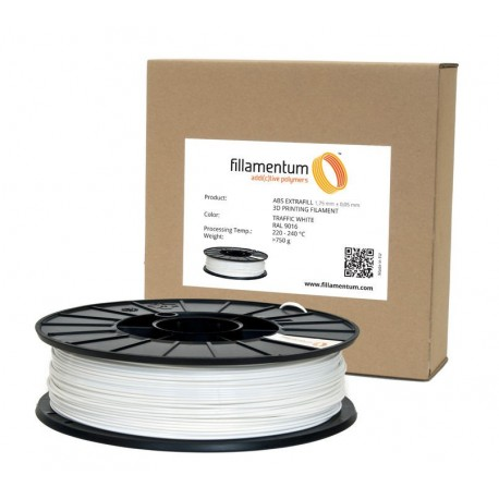Fillamentum ABS EXTRAFILL Traffic White RAL9016 1,75mm 750g