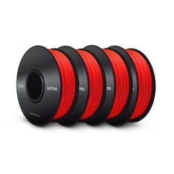 Bundle: 4x Z-ABS Filament Red 0,8kg 1,75mm