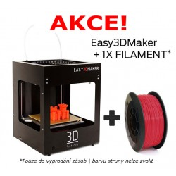 3Dfactories Easy3DMaker (černý) + 750g PLA